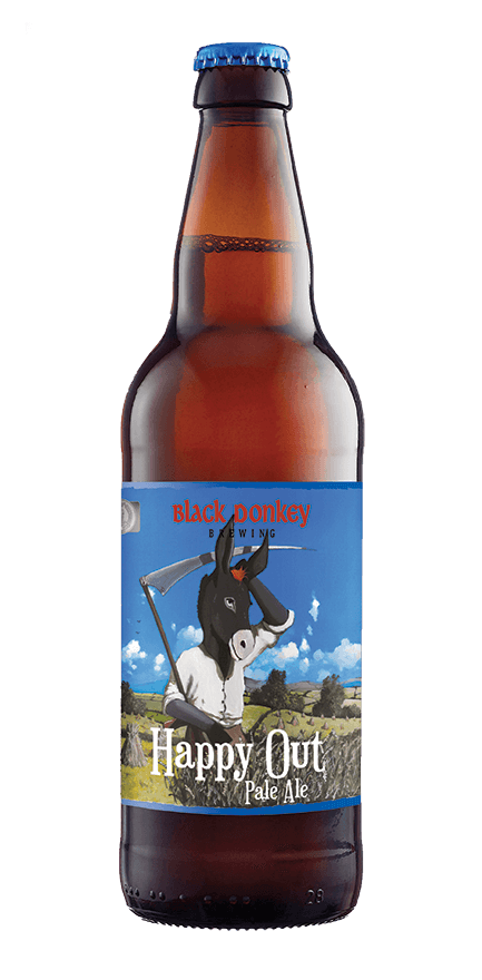 Happy Out Beer Bottle from Black Donkey Brewing