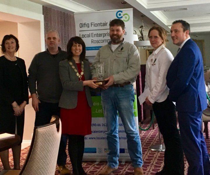 Black Donkey Team Recieving the Roscommon Enterprise Awards 2018